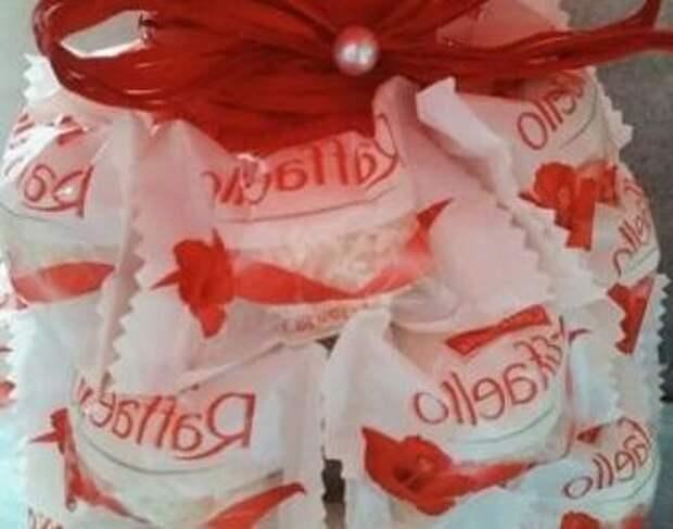 Ананас из конфет: мастер класс с пошаговым фото