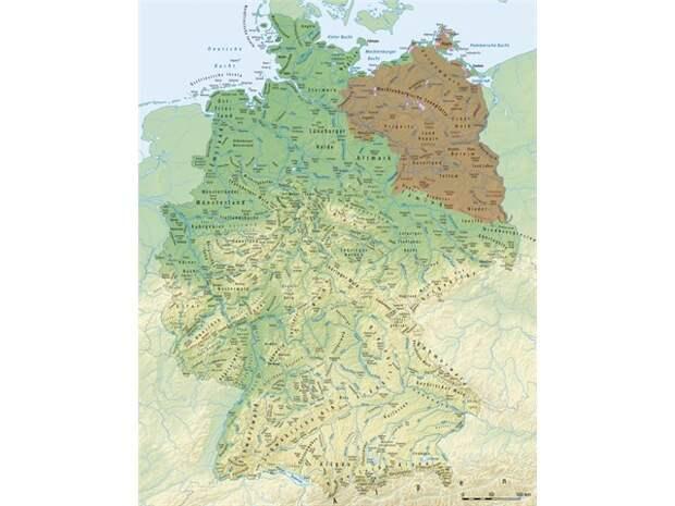 Названия северной Германии совпадающие с русскими названиями и фамилиями