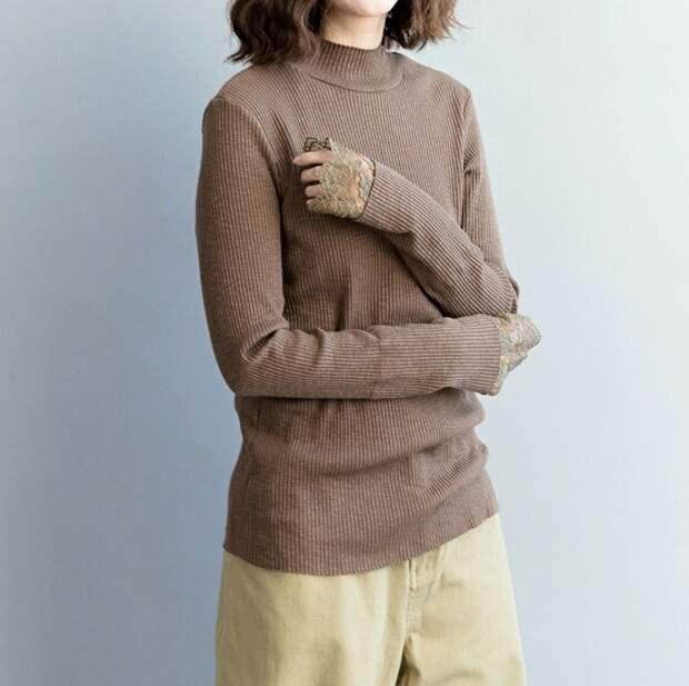 Удлиняем рукава свитера