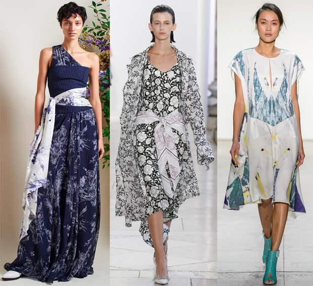 Модные платья и платки 2018