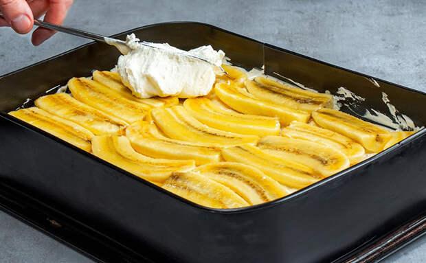 В торте всего лишь бананы, какао и молоко, а получается словно из мороженого. Готовим без теста