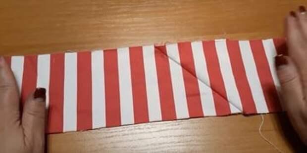 Как идеально сшить ткань в полоску