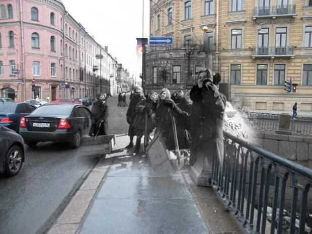 Ленинград 1942-2009 Мост Ломоносова-Чернышева блокада, ленинград, победа