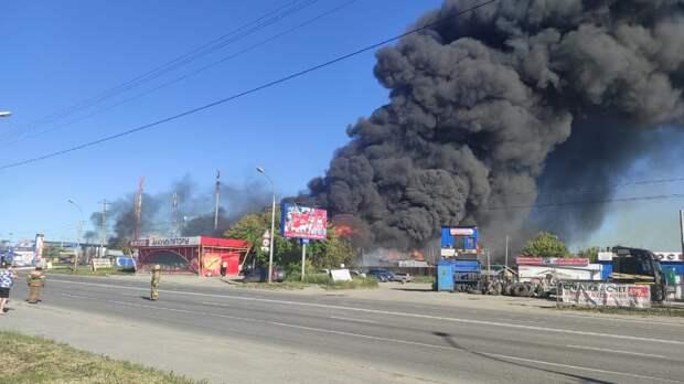 При пожаре на АГЗС в Новосибирске травмы получили 34 человека