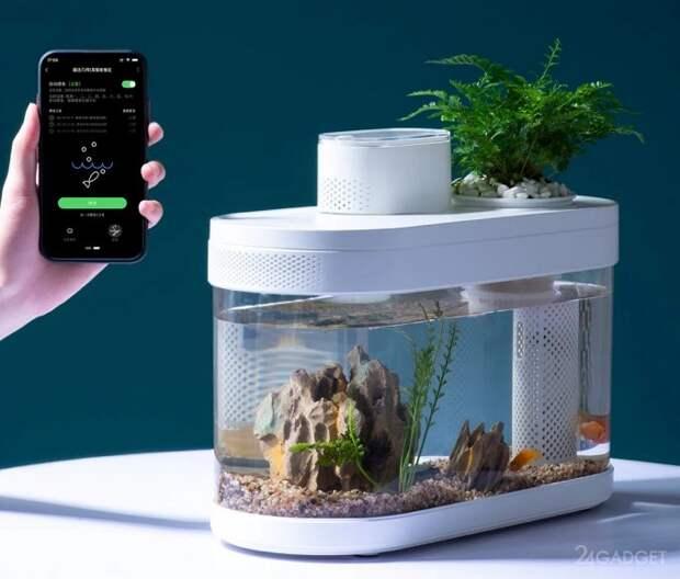 Умный аквариум Xiaomi с поддержкой Wi-Fi с и автоматической раздачей корма
