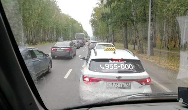 На трассах Тюмень - Тобольск и Тюмень - Ишим плохая видимость из-за задымления