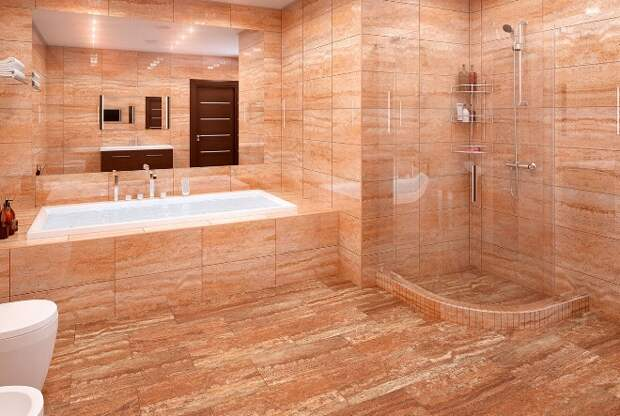 Плитка под мрамор для ванной комнаты: фото, дизайн, интересные решения (77фото)