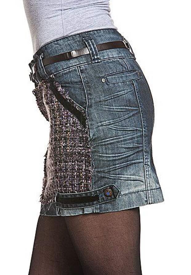 Несколько юбок и двое брюк.