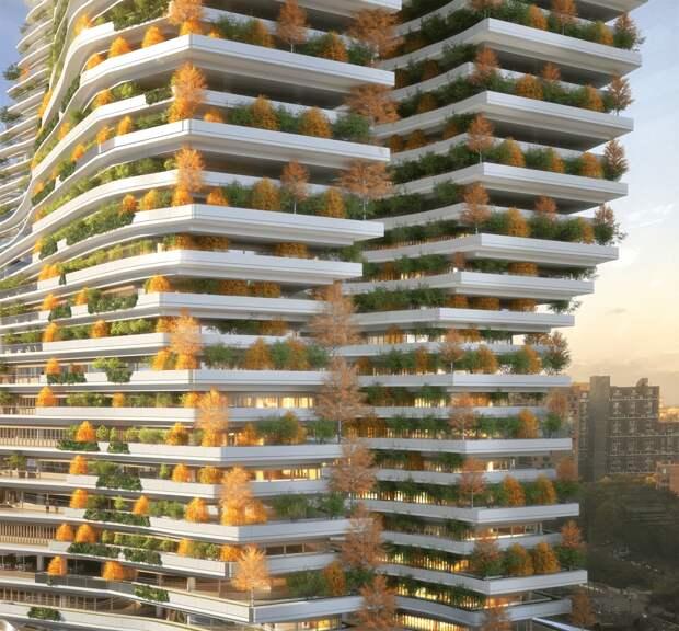 Архитекторы представили концепт самого высокого здания вНью-Йорке, способного поглощать углерод