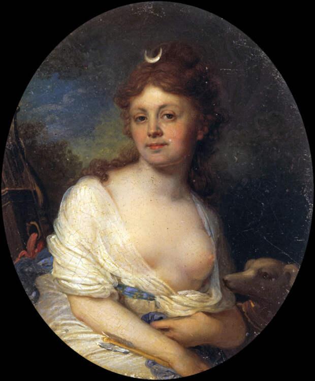 Портрет Елизаветы Григорьевны Темкиной в образе Дианы, художник Владимир Боровиковский.