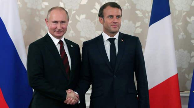 Путин и Макрон обсудят международную проблематику и сотрудничество с ЕС -  Газета.Ru | Новости