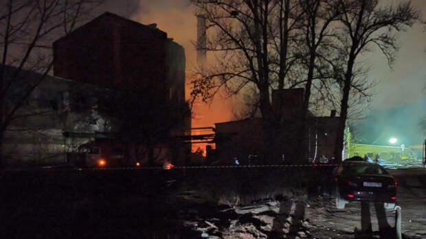 Оставшиеся очаги возгорания на Невской мануфактуре ликвидированы