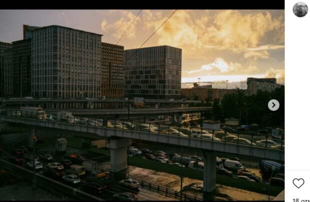 Фото дня: часы пик в Беговом