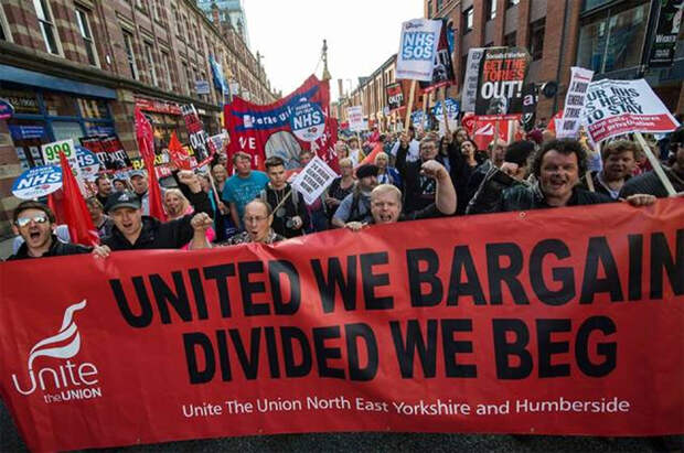 Численность британских профсоюзов растет четвертый год подряд
