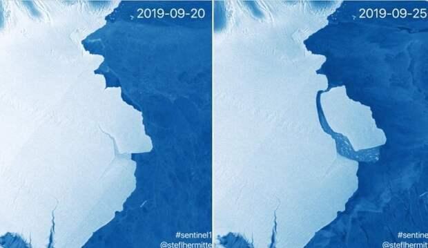 В Антарктиде откололся самый крупный за последние 50 лет айсберг