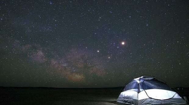Крым возглавил рейтинг популярных регионов для отдыха в палатках