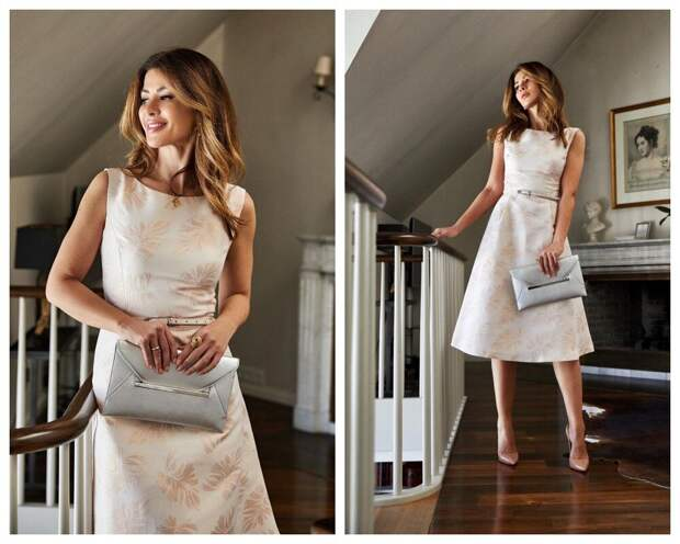 Платье с юбкой А-силуэта