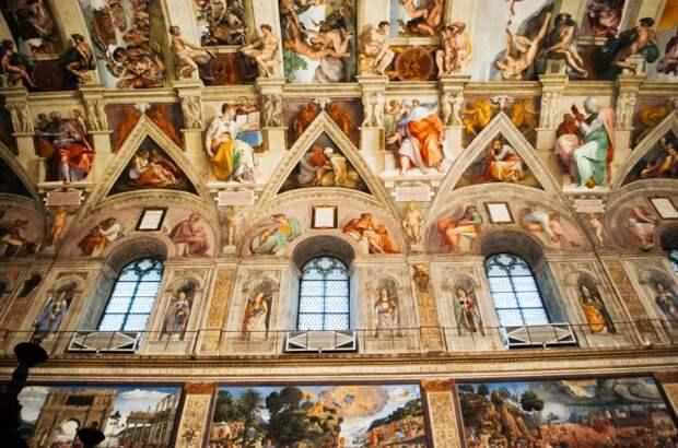 Сикстинская капелла Ватикан./Фото источник: bekahseestheworld.wordpress.com