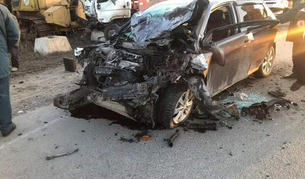 Водитель пострадал влобовой автоаварии вРостовской области