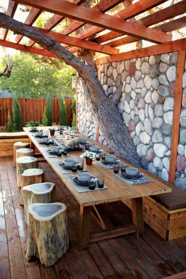 15 идей дизайна обеденной зоны на открытом воздухе