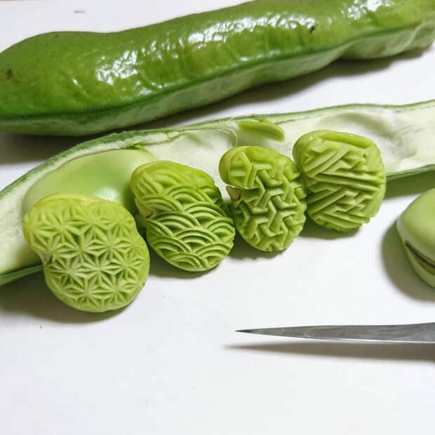 Японский шеф-повар превращает овощи и фрукты в произведения резного искусства