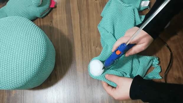 Чудесное превращение старого свитера и миски в харизматичный декор