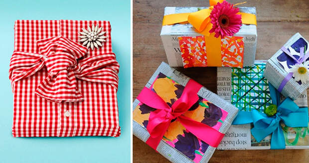 идеи как красиво упаковать подарок