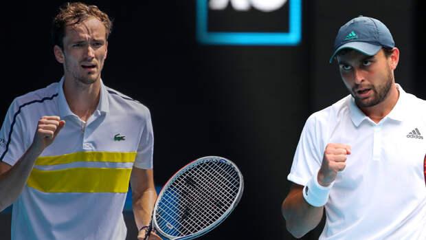 Россияне Карацев и Медведев сыграют на турнире в Риме во втором круге
