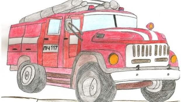 Продолжается конкурс рисунков «Мой папа пожарный»