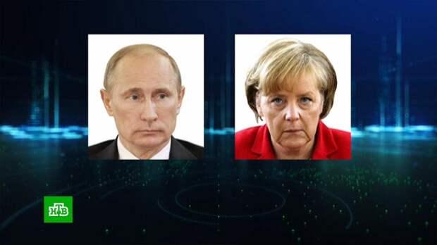 Путин поговорил с Меркель в день 80-летия начала Великой Отечественной