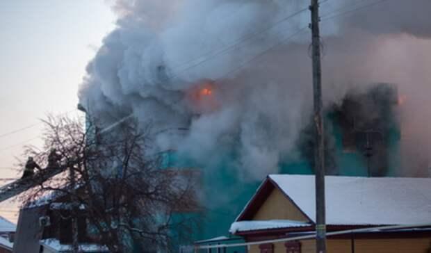 Дом сгорел всаду «Железнодорожник» наСадоводах вНижнем Тагиле