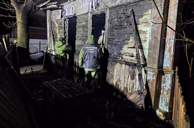 Семеро людей погибли на пожаре в Смоленской области