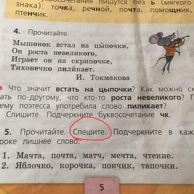 Из учебника по русскому языку