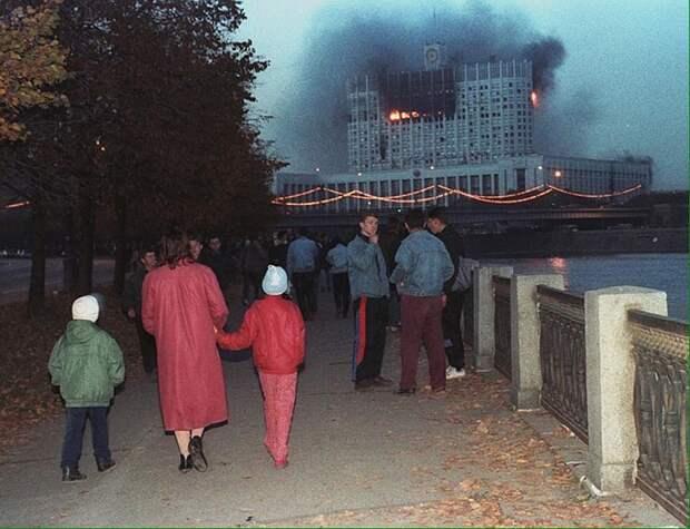 Обычный московский вечер, 4 октября 1993