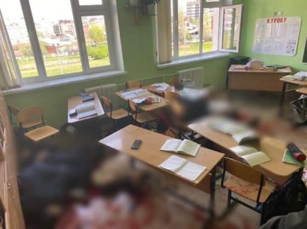 класс в казанской школе после обстрела