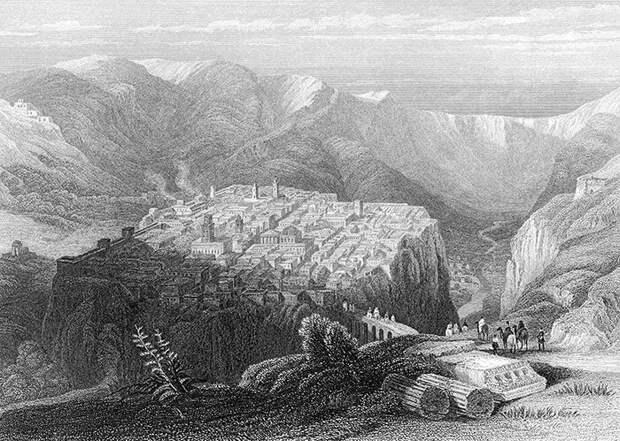 Константина, рисунок 1840 года - видно, что тогда существовал только нынешний Старый город