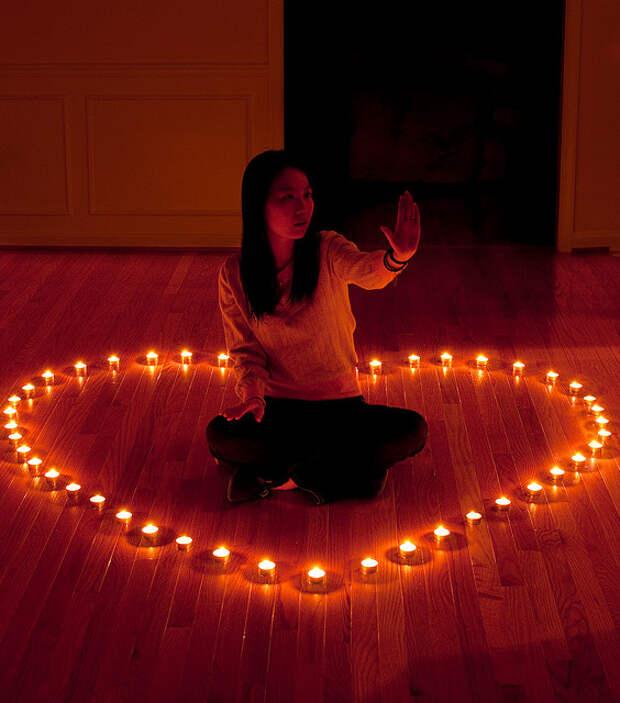 Свечи сердце