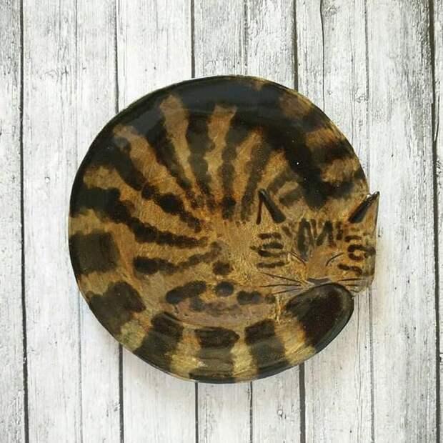 Кошачьи тарелки Татьяны Гавриловой