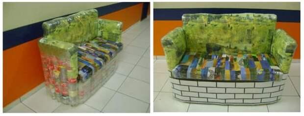 Мебель из бутылок уже пробралась в офисы, фото с сайта blogspot.com