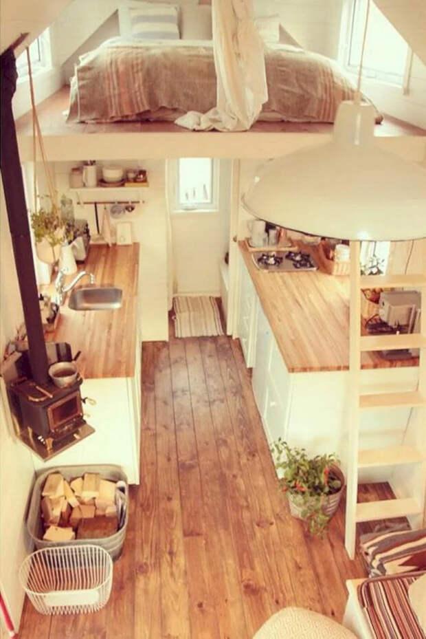 интерьер крошечного дома