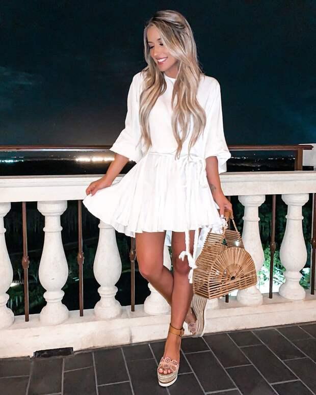 летнее платье с рукавами фото 1
