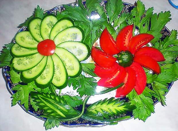 Малосольные огурчики за 5 минут и идеи оформления овощной нарезки