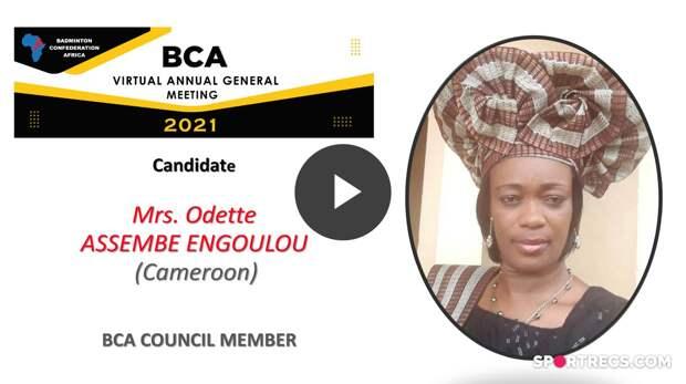 Élections du Conseil de la BCA 2021 - Odette ASSEMBE ENGOULOU (CMR) - Membre du Conseil