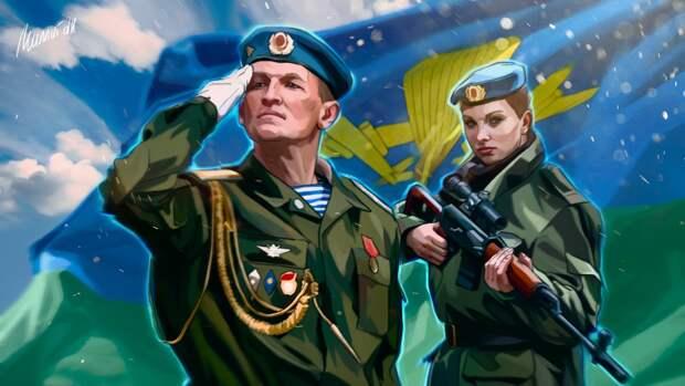 Бойцы ВДВ провели торжественное мероприятие для ветеранов ВОВ в Ульяновске