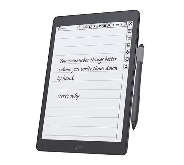 Гибрид ридера и планшета KloudNote оснащён экраном E Ink с перьевым управлением