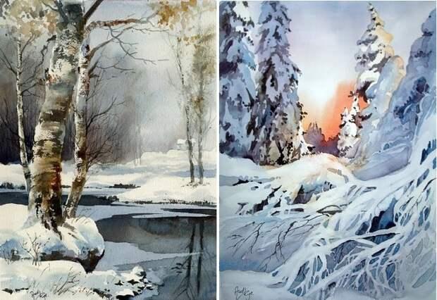 Зимний пейзаж от Aud Rye.