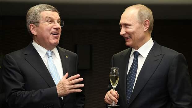 Путин поздравил Баха с переизбранием на пост президента Международного олимпийского комитета