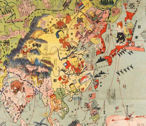 Курилы японские и вокруг ходит могучий японский флот. Монголия входит в состав Китая.