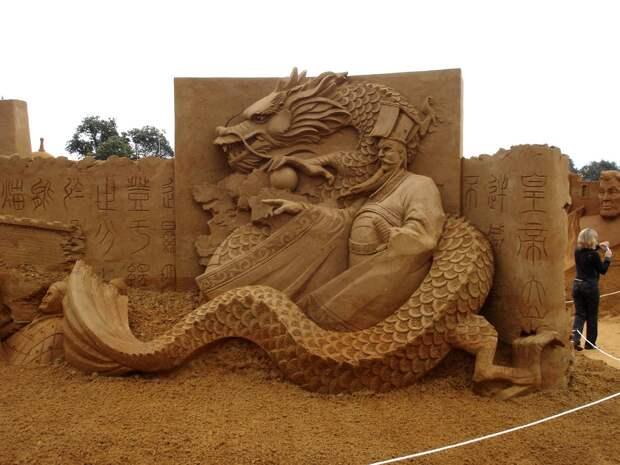 Эпичные скульптуры из песка, достойные места вмузее