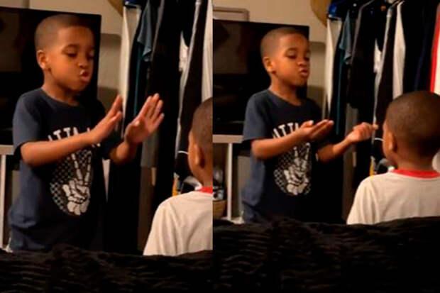 6-летний ребенок успокоил младшего братика идослез растрогал Сеть